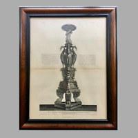19th Century Print of Giovanni Piranesi Engraving of Candelabra