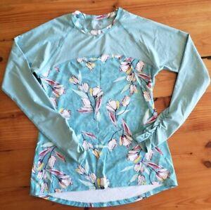 Calia Carrie Underwood Icy Blue Floral Long Sleeve Rashguard Size Large