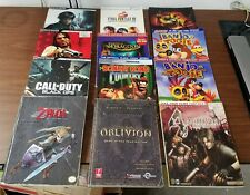 Large Lot of Video Game Strategy Guides
