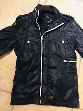 Wet Look Jacket Size G Star Blue  Shiny Nylon Glanz Cal M