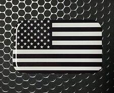 "America MONOCHROME Flag Domed Decal Proud USA Flag Emblem Car Sticker 3D 3.1x 2"""