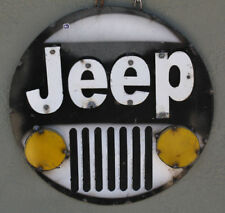 Metal JEEP 4x4 Sign Gas Oil Garage Man Cave Home Decor Recycled Chrysler Hot Rod