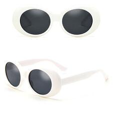 NIRVANA Kurt Cobain Sunglasses woman Men Oval Glasses UV400 Black White 2017 Hot