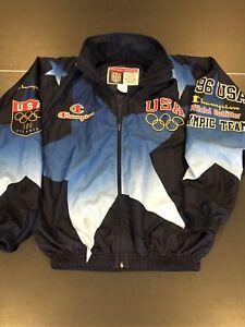 Vintage Champion Team USA All Over Print 1996 Olympics Jacket Atlanta Official L