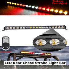 20' 180W Strobe Led Light Bar Flash Driving Turn Brake Warning Lights Off Road