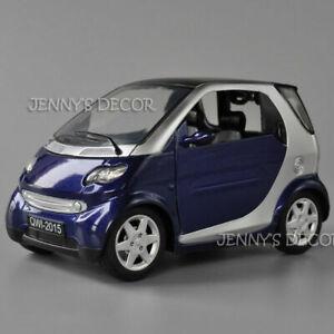 Model Diecast Metal Car Toys Smart Minicar Pull Back Replica w/ Sound&Light 1:18