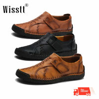 Men's Summer Dance Leather Casual Shoes Breathable Antiskid Loafers Moccasins UK