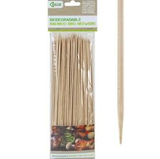 "150 x 10"" Biodegradable Bamboo Bbq Skewers Wood Shish Kebab Grill Sticks Fork"