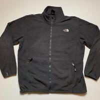 The North Face Mens Fleece Jacket Black Full Zip Up Pockets Mock Neck 2XL