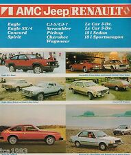 1982 AMC/JEEP/RENAULT Brochure: EAGLE,CJ-5,7,Le Car,PickUp,WAGONEER,SX/4,18i