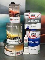 KIT FONDO MEGAFILLER 638 + TRASPARENTE MEGALACK ML 920 + STUCCO 380 LECHLER