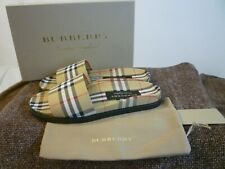 BURBERRY Vintage Check Slides Mens 43 $390 New In Box FREE SHIP