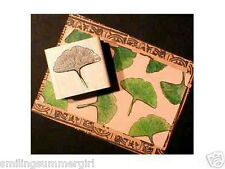 New! Unmounted GINKO Leaf Rubber Art Stamp ~ Some Things Fishy Stamp Design