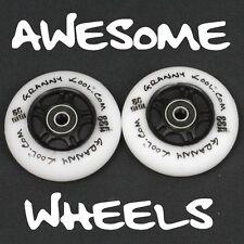 Ripstik Ripstick Skate Wheels x2 80mm LED Light Emitting White PU inc bearings