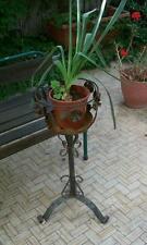 antica fioriera portafiori portavaso ferro battuto a foglie e fiori dipingibili