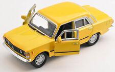 Spedizione LAMPO FIAT 125 P GIALLO/YELLOW Welly Modello Auto 1:34 NUOVO & OVP