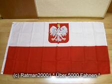 Fahnen Flagge Polen mit Wappen Sonderposten - 90 x 150 cm