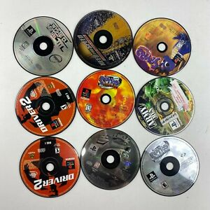 Lot Of 9 PlayStation 1 PS1 Video Games Untested Disc Only Scratched No Cracks