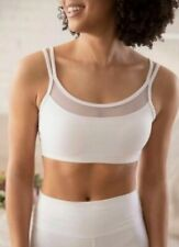 Nwt Popflex Bliss Bra Cloud Sports Bra Double Strap Mesh Padded Size 10 White