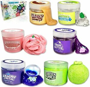 Slime Kit for Girls Boys, 6 Different Scented & Premade Slimes in 28 oz Containe