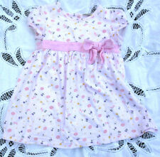 17440f8deba47 Laura Ashley Pink Dress Floral Cotton 18 Mos Knit Bow Trim Holiday Party