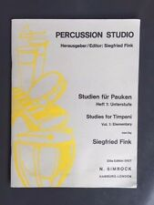 Percussion Studio: Studien für Pauken Heft 1 (Unterstufe)