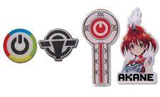 Vividred Operation Pin Set Of 4 Akane & Operation Key Metal Anime Manga Licensed