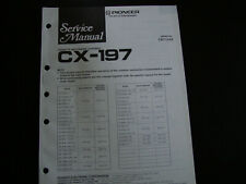 Original Service Manual Schaltplan   Pioneer CX-197