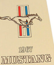 New! 1967 Ford MUSTANG Owners Free Shipping