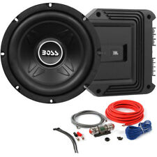 "Boss CXX8 600W 8"" Subwoofer + 2-Channel JBL Amplifier + 8 Gauge Amp Kit Package"