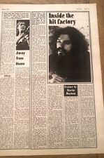 ROY WOOD 'inside the hit factory' 1974  UK ARTICLE / clipping