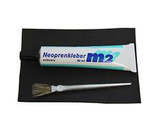 Neopren Reparatur Set Kleber Flicken Pinsel Neoprenanzug Tauchen Shorty schwarz