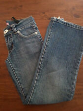JUST KIDS Just Jeans Girl's Blue Distressed Freyed Stretch DENIM Size 8 VGUC