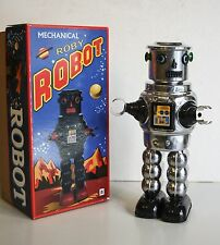 ROBBY THE ROBOT CHROME SPACE AGE VINTAGE REPRO GIOCATTOLO IN LATTA 22