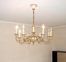 Hängelampe Deckenleuchte Vintage Hollywood Regency weiß gold Messing Design 70er