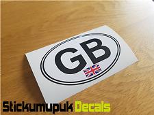 "GB Oval Union Jack Car Camper Van Bumper Window Sticker Decal 5""  / 125mm Wide"