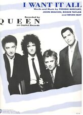 """QUEEN """"I WANT IT ALL"""" SHEET MUSIC-PIANO/VOCAL/GUITAR/CHORDS-1989-RARE-BRAND NEW!"""