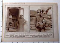 1915 WWI WW1 Imprimé Armée Russe X-Ray Field Service Van Russe Fille Croix Rouge