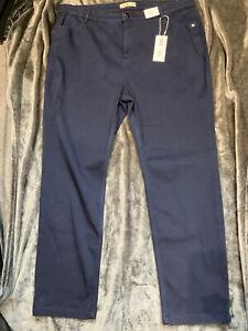M&S Per Una Straight Leg Jeans BNWT Size 24 Reg Roma Rise RRP £35 Navy Colour