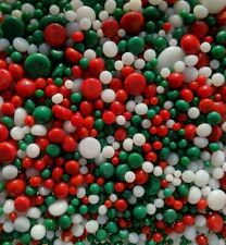 90 COE Bullseye Glass Fusing Dots Frit Balls Christmas Holiday Mix