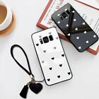 Tempered Glass Case Cover For Samsung Note Galaxy Free Strap Fashion Small Heart
