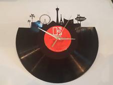 Handmade Las Vegas Skyline Record Vinyl Clock 12'' Vinyl Fathers Day Gift