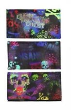 Psychedelic Skull PU Tobacco Pouch fit 25g Cigarette Papers