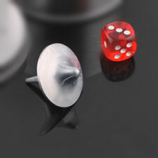 Silver Inception Zinc Alloy Spinning Top Totem with Plastic Dice Gift Collection