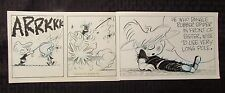 """Late 80's Early 90's THE SMITH FAMILY Original Comic Strip Art 16.5x5.5"""" 5/22"""