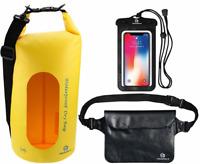 Freegrace Waterproof Dry Bags Yellow 10L Waist Pouch & Case