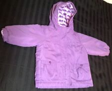 4 In 1 Coat 18 Month Purple Reversible Fleece Jacket Girls
