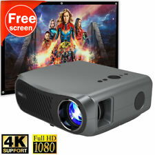 New listing 8500lm Native 1080p Projector Home Cinem Office Hdmi Usb Movie Free Screen 120''