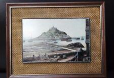 Vintage print Kevin Platt St. Michael's Mount FREE UK P&P 22cm x 17cm