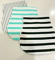 3 Pack Large Soft Double Layer Cotton Burp Cloths set with 2 FREE Teether